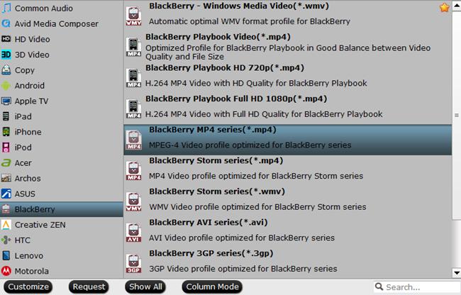convert videos for blackberry z3