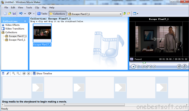 import clips to windows movie maker