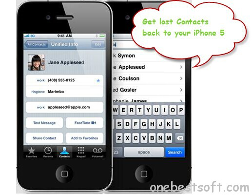 recover contacts back to iphone 5