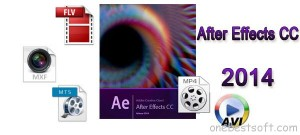 Import MXF/MTS/AVI/FLV/MP4 to Affect Effects CC