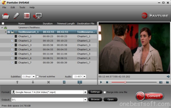 DVD to Nexus Converter