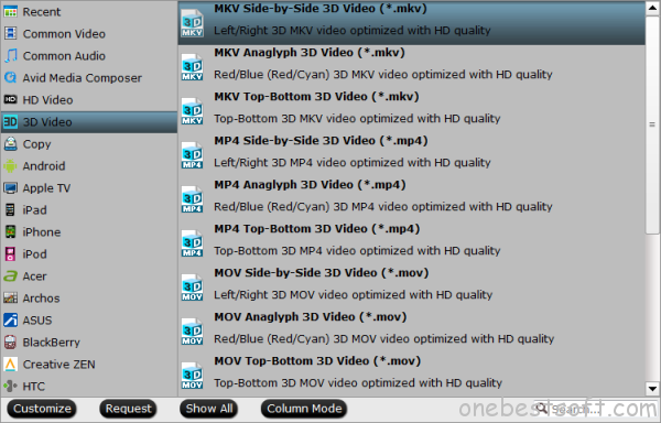 3D SBS MKV format