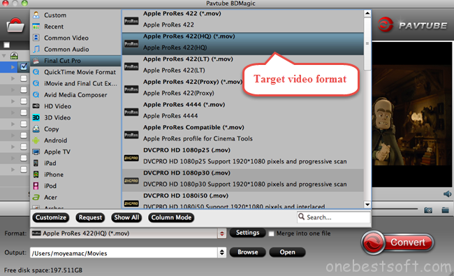 Final Cut Pro best video format