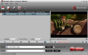 DVD/Blu-ray to H.265 conversion