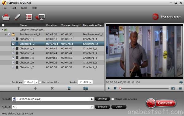 DVD to H.265/HEVC Ripper