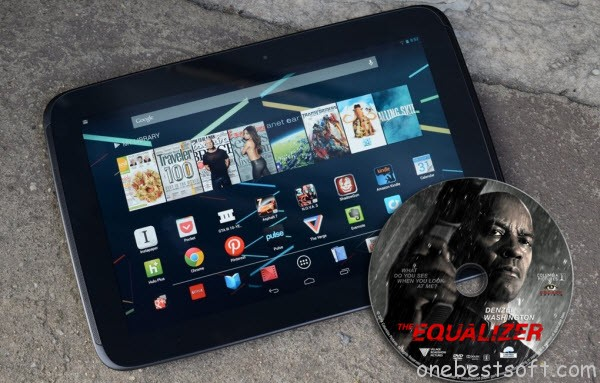 Watch The Equalizer DVD Movie on Nexus 10