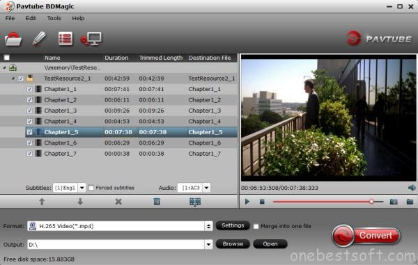 Blu-ray to H.265/HEVC Ripper