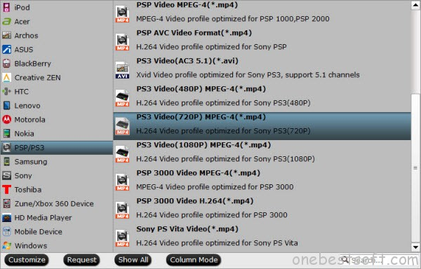 PS3 Video Format