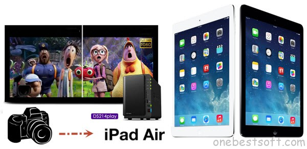 Sync Videos from DSLR on DS214play NAS server to iPad Air