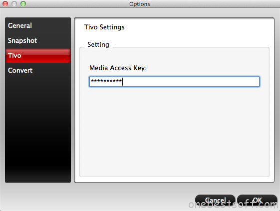 input Media Access Key