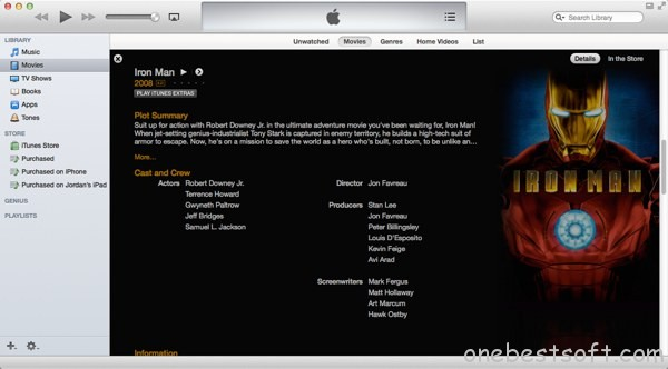 Start Playing Your Video in iTunes