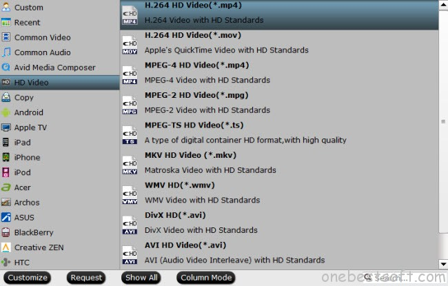 VLC on QNAP or Sony Bravia TV video format