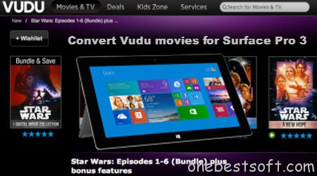 Watch downloaded Star Wars from Vudu on Surface Pro 3