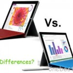 Major differences between Surface 3 and Surface Pro 3