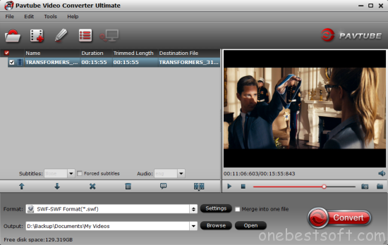 Easy tricks to download/change YouTube video to SWF | One Best Software