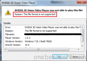 Solutions to play 3D MKV with NVIDIA 3D Vision | One Best