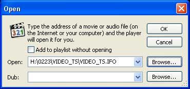 Open DVD IFO 2