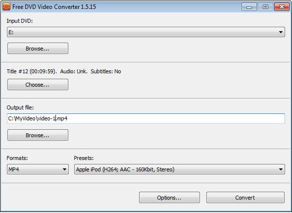 Free DVD Video Converter Alternative