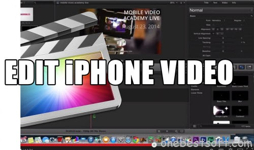 Edit iPhone video with FCP X