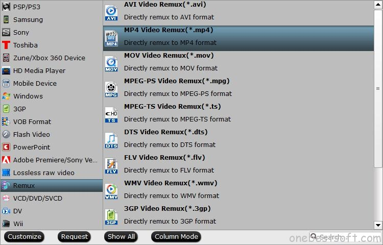Remux Blu-ray to MP4