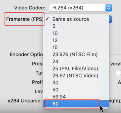 choose video frame