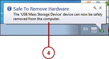 remove flash drive from opc
