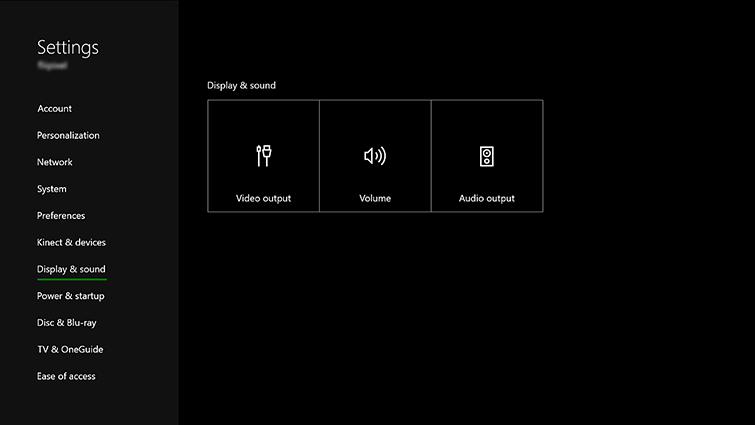 xbox one setting